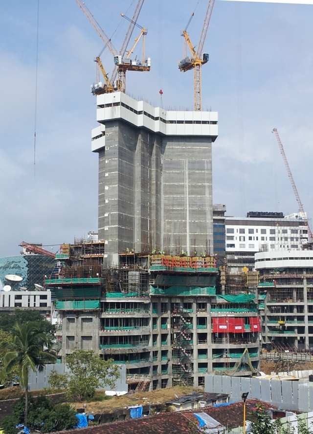 Photo of World One Tower under construction