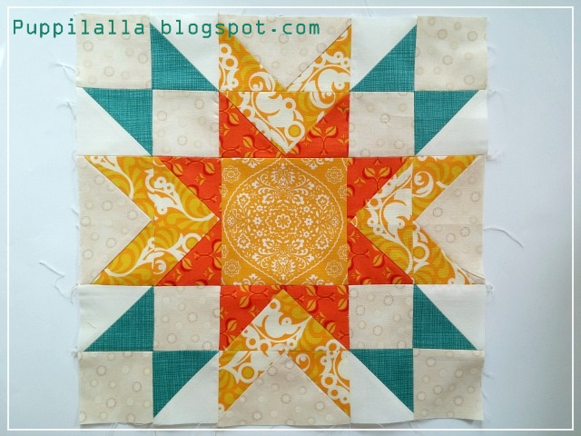 Blossom Heart Quilt, Puppilalla, The Bee Hive, Double Star Block, Quilting Bee, Patchwork