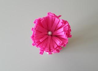 kwiat z filcu