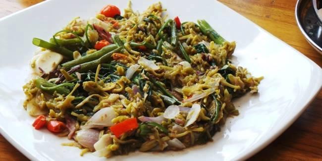 Cook Recipe Sauteed Papaya Flowers Cakalang Fish