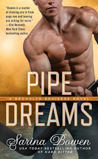 romance novel covers, contemporary romance, sports romance, Pipe Dreams by Sarina Bowen