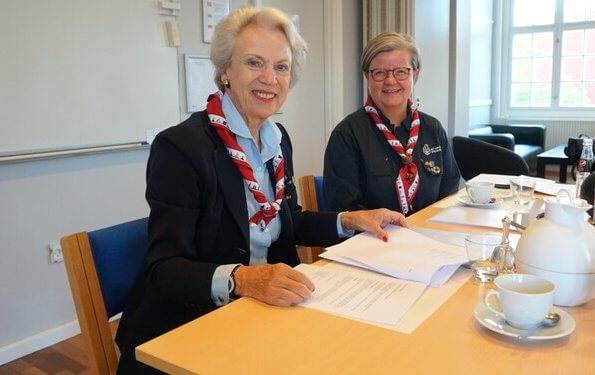 Princess Benedikte attended a meeting of the Girl Scouts Council, held at Holmen in Copenhagen