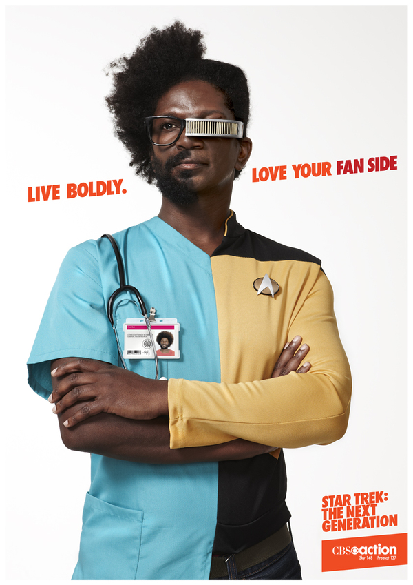 Yesterday's Cheese: CBS Star Trek TNG Fan Sides Ad Posters