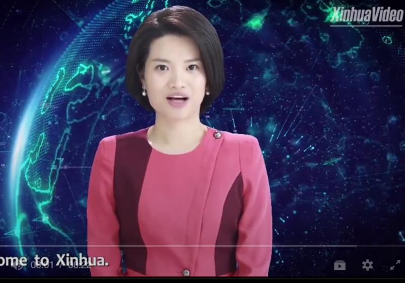 روبوت على شكل مذيعة أخبار في الصين
