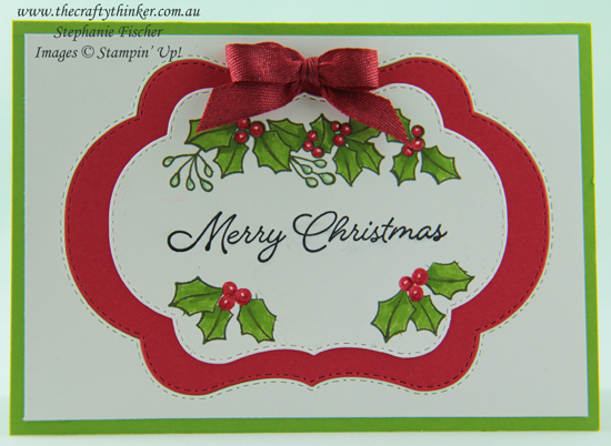 #thecraftythinker  #stampinup  #xmascard  #cardmaking  #christmascard #blendedseasons , Blended Seasons, Stitched Seasons, Christmas Card, Xmas Card, Stampin' Up Australia Demonstrator, Stephanie Fischer, Sydney NSW