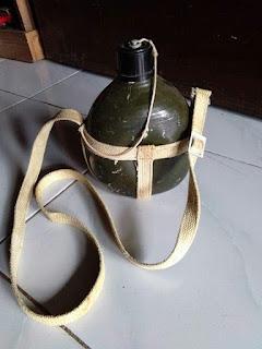 Botol militer japan ww2 tutup g ori nya  Seling tali kanvas