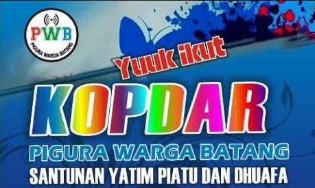 Event Batang: 1 Januari 2017 | KOPDAR Pigura Warga Batang | Santunan yatim Piatu dan Dhuafa