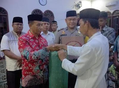 Tim Safari Ramadhan Kemenag Batu Bara Kunjungi Masjid Al- Ikhlas di Air Putih