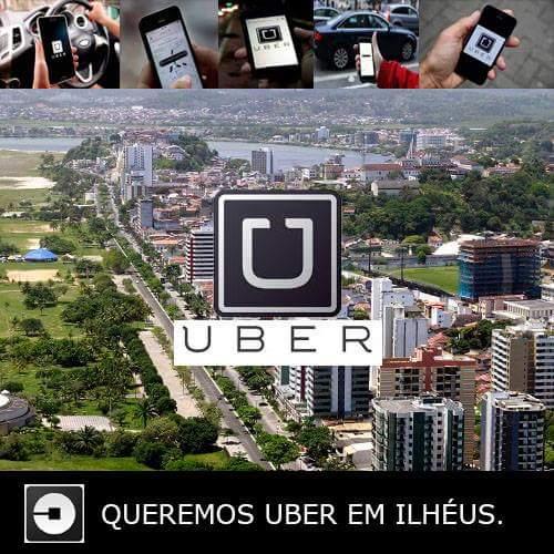 UBER LIBERA APLICATIVO PARA MOTORISTAS DE ILHÉUS