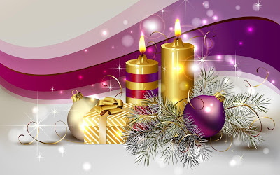 New-christmas-candle-wallpapers