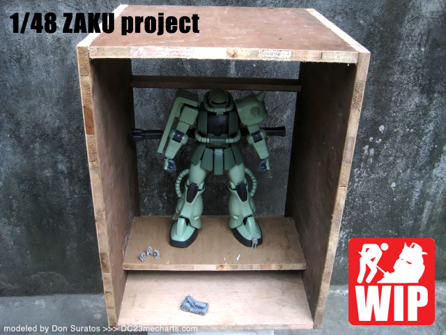 ZAKU diorama project photo