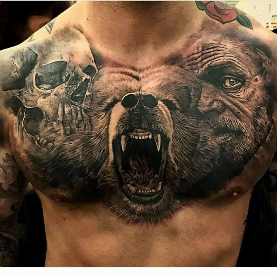 3 Monos Sabios Tatuajes fotos de tatuajes: pecho
