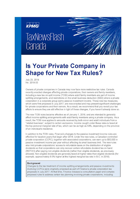 Is Your Private Company in Shape for New Tax Rules?