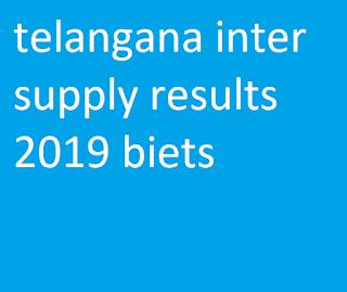telangana inter supply results 2019