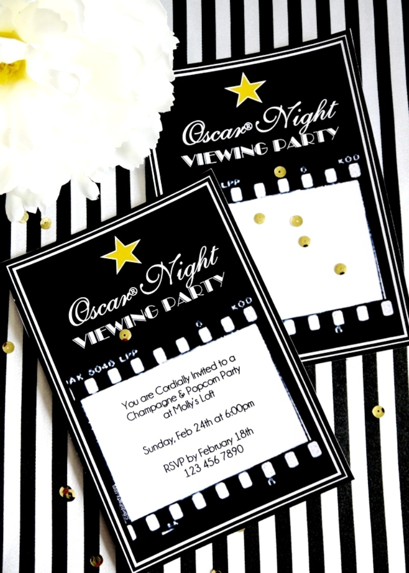 Oscars Viewing Party: DIY Popcorn Bar & Printables - BirdsParty.com