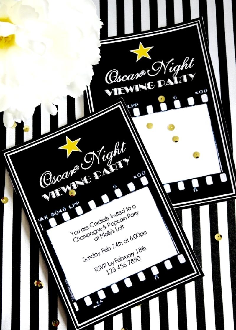 Oscars Viewing Party: DIY Popcorn Bar & Printables - BirdsParty.com