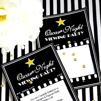 Oscars Viewing Party Ideas | DIY Popcorn Bar & Printables