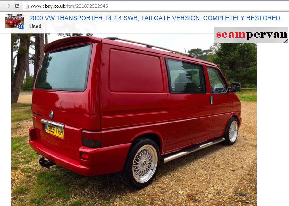 Jack Buster Jack Ebay Scam 2000 Vw Transporter T4 2 4 Swb X965thh Fraud X965 Thh 29 Sep 15