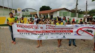 Local: Escola José de Andrade Guedes realiza ação contra Aedes Aegypti.
