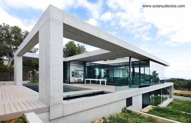 Vivienda familiar contemporánea en Mallorca, España