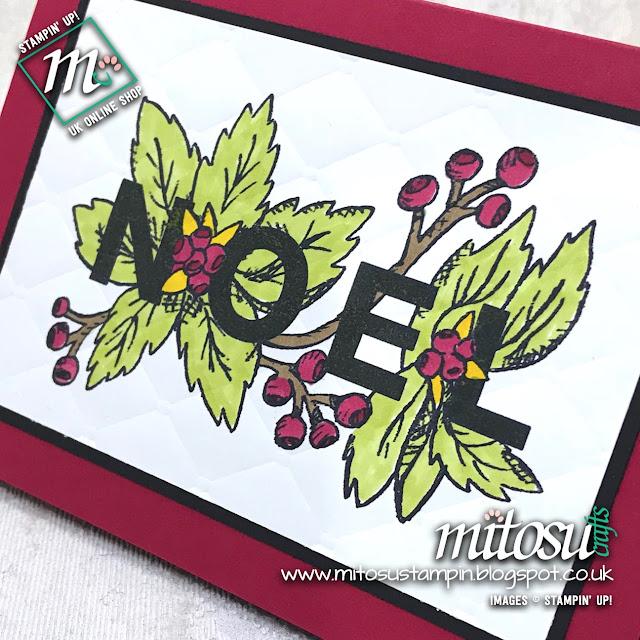 Joy & Noel Stampin' Up! Card Ideas from Mitosu Crafts UK Online Shop