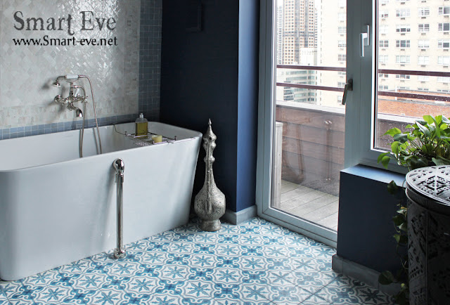 floor tile patterns, floor tile designs, tile flooring ideas 2017, blue floral floor tile pattern