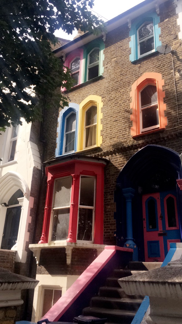 Colourful house in Dalston