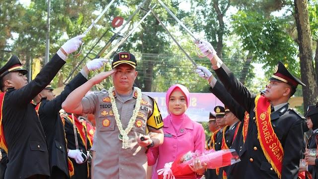 Polres Subang Sambut Pimpinan Baru