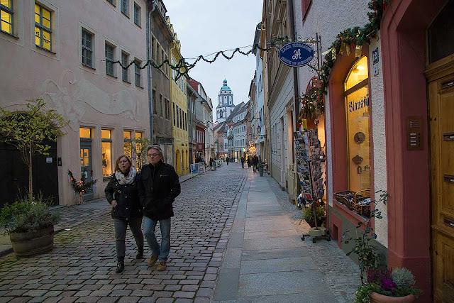 streets of meissen saxony germany