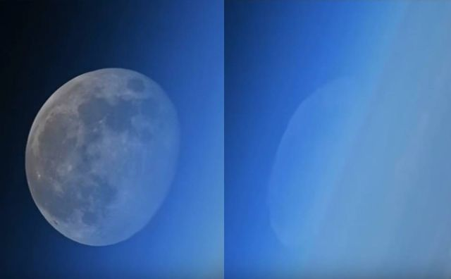 Rare footage of disappearing moon filmed from the International Space Station  Moon%2BSpace%2BISS