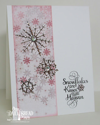 ODBD Custom Snow Crystals Dies, ODBD Snowflake Season Paper Collection, ODBD Snowflake Sentiments, Card Designer Angie Crockett