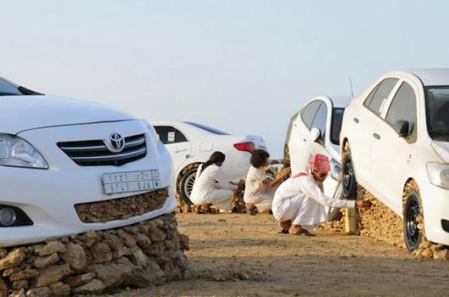 """ماذا تعرف عن """"تحجير السيارات"""" عند السعوديين؟ هواية مثيرة للجدل ... ما رأيكم ؟"""
