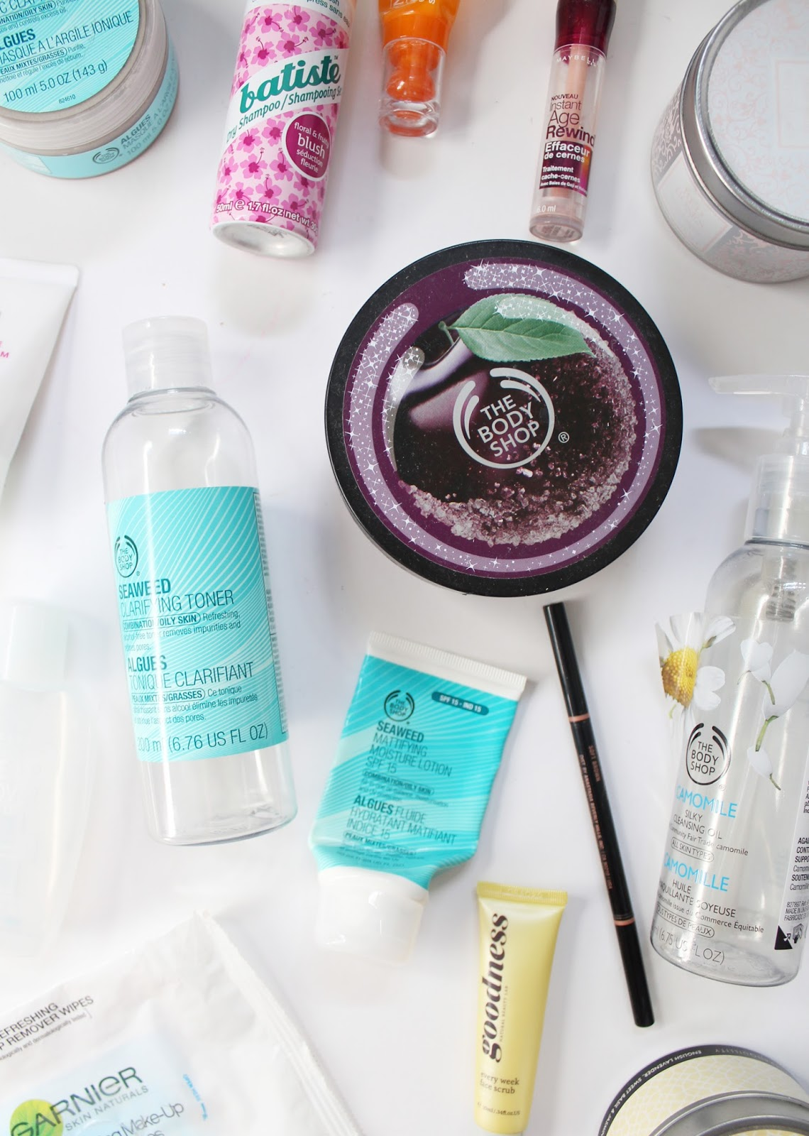 EMPTIES | March '16 - Product Reviews - The Body Shop, Clinique, Maybelline, Batiste, Garnier, Za, Goodness Products, Anastasia Beverly Hills - CassandraMyee