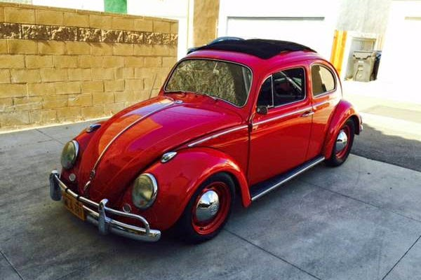 used 1961 ragtop volkswagen bug by owner. Black Bedroom Furniture Sets. Home Design Ideas