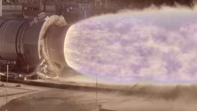 Chorro de una turbina de cohete captado con la cámara HiDyRS-X (High Dynamic