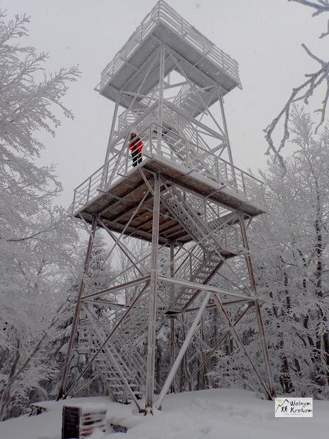 Wieża widokowa na Kelenicy zima