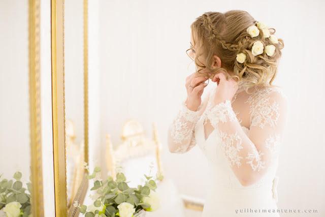 casamento real, making of, dia da noiva, flores no penteado, casamento eloiza e renato