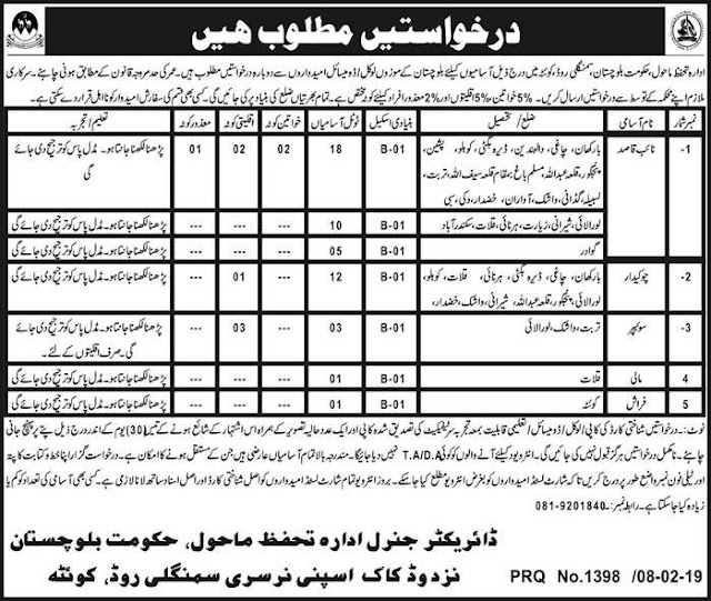 ➨ #Jobs - #Career_Opportunities - 50 Jobs in Baluchistan's different districts – for application visit the link -Apply within 30 day of the advertisement