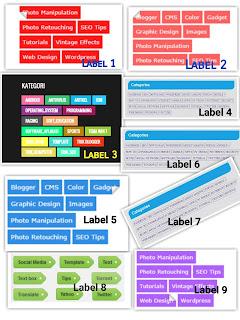 membuat tampilan label blog keren dengan kode CSS