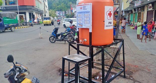 Perangi COVID-19, Pemkot Jayapura Sediahkan Portal Cuci Tangan di Lingkungan Publik