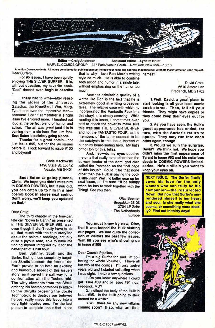 Read online Silver Surfer (1987) comic -  Issue #98 - 33