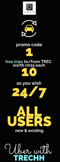 Free Ride Uber Discount Promo Code TREC KL Malaysia