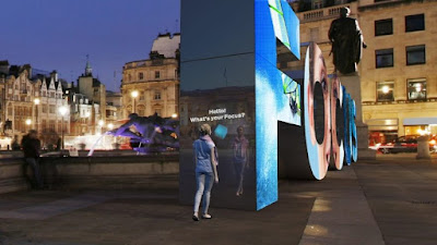 Artificially intelligent outdoor video display to promote the Ford Focus.