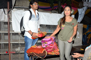 Actress Sri reddy (apthatrust director) Distrubuted Blankets for Orphans at Sai Baba Temple  0013.JPG