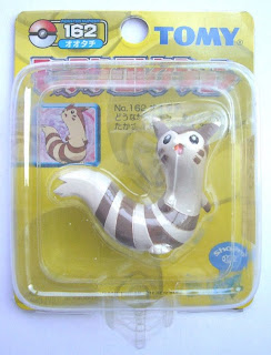 Furret Pokemon figure Tomy Monster Collection yellow package series