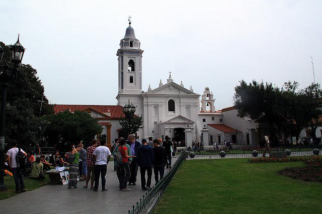 Paisaje urbano. Iglesia del Pilar
