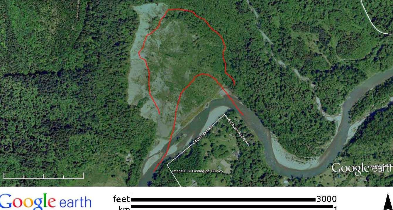 This Image Is From 2009 And Shows The Slide Area Is Greening Up Except For The Steep Headwall Scarp On The West Limb Of The Slide Note As Well The Straight