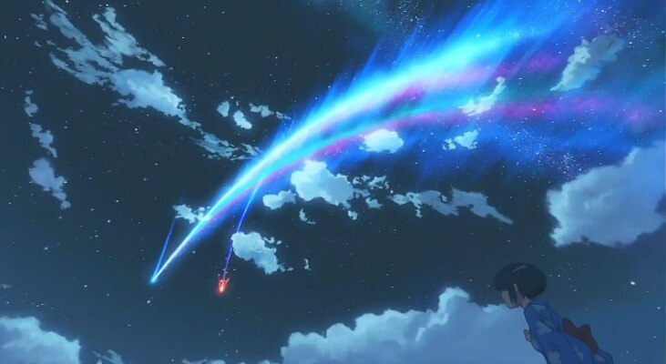 Mitsuha watching the comet in Kimi no Na wa