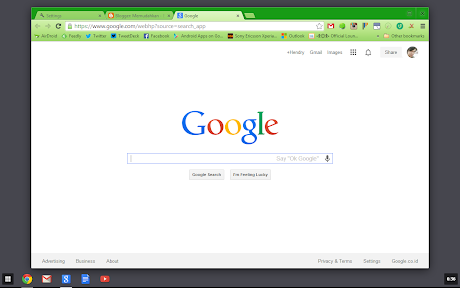 Tampilan Chrome OS di Windows 8