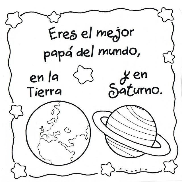Imagenes De Papá Para Colorear